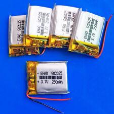 5 pcs 3.7V 250mAh Li Po Rechargeable Battery For Bluetooth MP3 Smart band 602025
