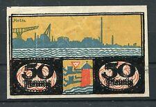 Flensburg Stadt 50 Pfennig Notgeld sign. Holtz Doppeldruck der Farbe schwarz