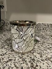 Yankee candle Scenterpiece Silver Leaves Wax Warmer! In Excellent Used Condition