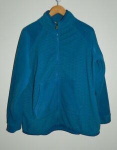 Ladies Weird Fish Fleece Zip Up Jacket Size UK 20 Blue Colour - VGC