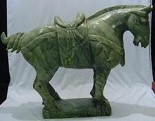 LARGE JADE SADDLED TANG HORSE (LH3C)