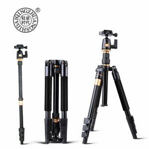 QZSD Q555 Portable Aluminum Digital Camera Tripod Monopod Stand With Ball Head