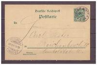 Deutsches Reich, Ganzsache P 36 Leipzig-Plagwitz nach Reichenbach 27.12.1897