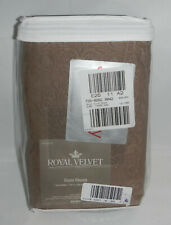 NEW Royal Velvet 24-Inch by 24-Inch Square Euro Pillow Sham Taupe Color from JCP