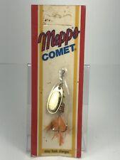 Vtg Mepps Easy Hook Comet Spinner #2, Made In France, Brass Spinner