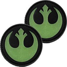 2x Star War Rebel Symbol PVC Morale Patch 3D Badge Hook #41 Glow