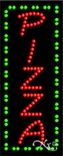 """NEW """"PIZZA"""" VERTICAL 27x11 SOLID/ANIMATED LED SIGN w/CUSTOM OPTIONS 21019"""