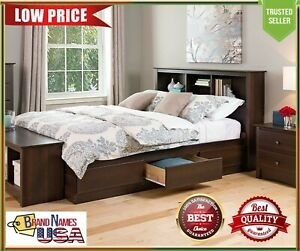Prepac Mate's Platform Storage Bed with 6 Drawers, Full, Espresso - HIGH QUALITY