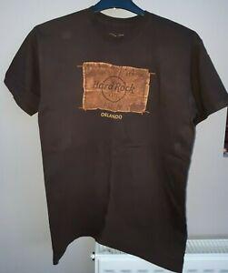 Hard Rock Cafe Orlando Mens Size M T-Shirt Brown Medium