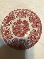 """Royal Staffordshire Franciscan TONQUIN RED PINK Bread & Butter Plate 6.5"""""""