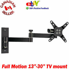 "LCD TV Monitor Wall Mount 13-30"" ±15° Tilt 180° Swivel arm 17 19 20 22 23 24 27"""