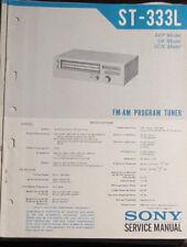 Sony ST-333L tuner service repair workshop manual (original copy)