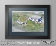 Framed English Electric F.2A Lightning, 19 & 92 Sqn RAF Gutersloh Print