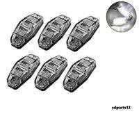 6x12V Blanc SMD 2 LED Lampes Feux De Gabarit Camion Caravane Chassis