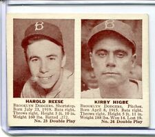 1941 Double Play PEE WEE REESE Rookie RC KIRBY HIGBE Dodgers #23 #24 EX