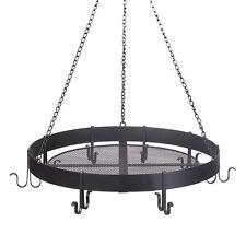 Simple Iron Black Pot Holder Pan Hanger Rack Round Hanging Kitchen Organizer