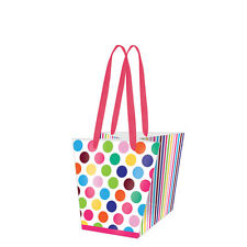 Printed Paper Gift Present Bag SO LARGE DOTS Flowerpot Colourful Stripes 000420