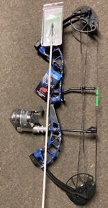 PSE D3 BLUE Bowfishing Compound Bow MUZZY REEL REST FINGERS ARROW