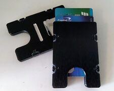 BilletVault Wallet/Credit Card Holder, Alum. RFID protection, plain black