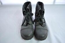 Roxy Black Wool lined Combat boots Women's