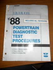 Mopar OEM Powertrain Diagnostic Test Procedure Manual 1988 2.2L 2.5L E.F.I