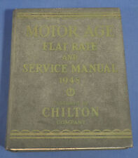 Vintage 1948 Motor Age Flat Rate and Service Manual 19th Ed. by Chilton Co. HC