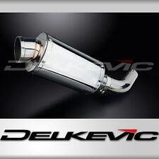 """Honda VFR800 Interceptor 9"""" Stainless Oval Muffler Exhaust Slip On 98 99 00 01"""