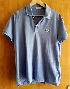 "Orig. Moncler "" Maglia Polo Manica Corta "" - Poloshirt in blau - Größe L"