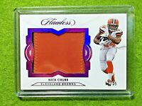 NICK CHUBB FLAWLESS JERSEY ROOKIE CARD PRIZM PATCH #/15 RC REFRACTOR RELIC  2018