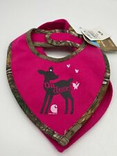 Carhartt Baby Bib Set Of 2 Cute Deer And Hot Pink & Camouflage Hunting