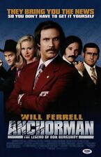 WILL FERRELL SIGNED ANCHORMAN 11X17 MOVIE POSTER PSA COA AD48165