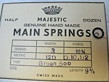 MAJESTIC Gruen .500 Watch Mainspring New Old Stock Watch Parts