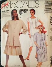 Vtg McCalls Learn to Sew pattern 3527 Misses'/Petite Shirtjacket, Dress sz 10-12