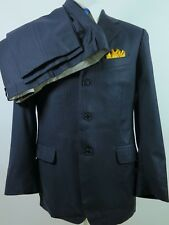 Salvatore Ferragamo 100% Wool Blue PinStriped Mens Suit 42 R 38x30 Made in Italy