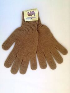 Very Warm Soft 100% Camel Wool Gloves Brown,1 pair. Made in Mongolia.