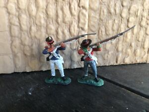 2 Alamo Mexicans, War of Texas independence.. Conte plastic toy Soldiers 60 mmn