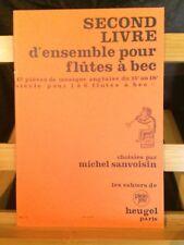 Michel Sanvoisin second livre d'ensemble flutes a bec partition Heugel plein jeu