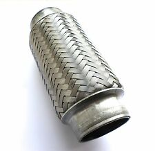 "1.75"" x 6"" Flexible Exhaust Flexi Pipe Repair Tube Joint Cat  45mm x 150mm"