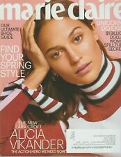 Marie Claire Magazine April 2018 FIND YOUR SPRING STYLE ALICIA VIKANDER