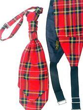 New Mens Wedding Cravat & Cummerbund  Royal Stewart Red Tartan