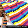Cotton Elastane Rainbow Striped Fabric Soft Stretch Jersey Material 100 X 170cm