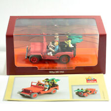 1:43 TINTIN & MILOU CAR RED JEEP WILLYS MB 1943 BOX DIORAMA SPIELBERG MOVIE BD