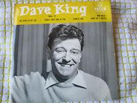 "Dave King No 2 UK  4 track EP 7"" 45 Vinyl single 1958  Bacharach & David"