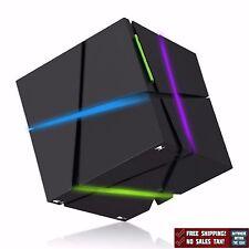 Magic Cube Wireless Speaker Bluetooth 4.0 Mic LED Samsung IPhone Laptop Black