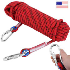12MM Safety Climbing Rappelling Rope Outdoor Mountaineering Cord Rescue Gear USA