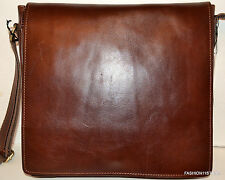 Old Angler Italian Leather Men's  Brown Bag Messenger Sac Bolsa  MSRP$315.00
