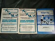 More details for three bangor city friendly football programmes inc sir stanley matthews