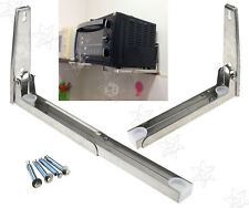 Stainless Steel Microwave Oven Wall Mount Shelf Rack Bracket Foldable Stretch