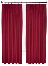 """NEW Crosby Pinch Pleat Thermal Patio Curtains 96"""" wide 84"""" Bordeaux Maroon 20739"""