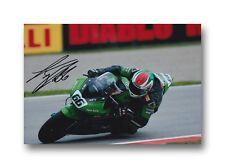 TOM SYKES HAND SIGNED 12X8 PHOTO KAWASAKI MOTOGP, WSBK, BSB 2.